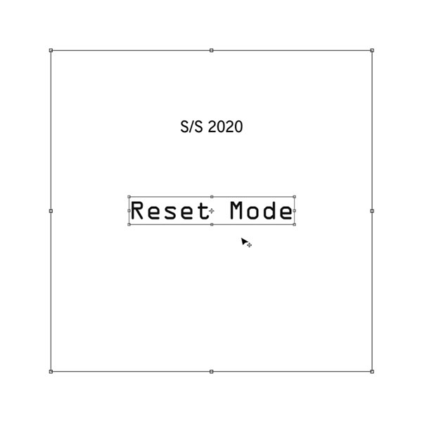 RESET MODE by Azumi and David - spring/summer 2020