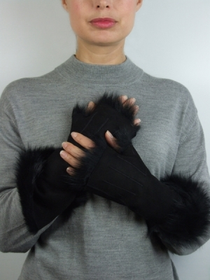 Wrist Mitt (Long), black