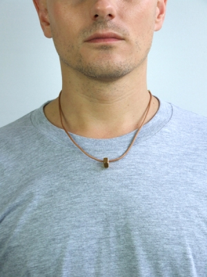 Nut Cord Necklace - Gold