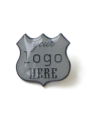 'Your Logo Here' enamel badge (limited edition of 300)