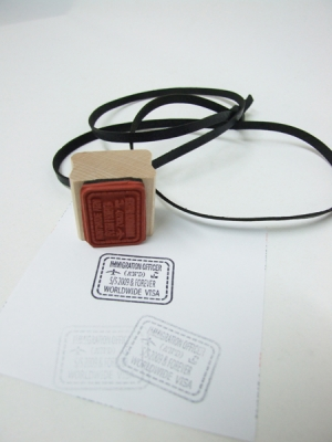Worldwide Visa Stamp Necklace