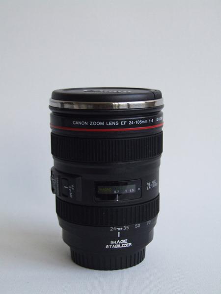 Things we like canon 24 105mm thermos lens mug for Canon photo lens mug
