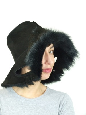 Porthole Hat Bag (sheepskin)