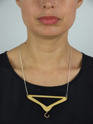Upside-down Coat-Hanger Necklace