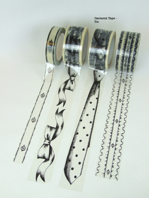 Garment Tape - Tie print (50mm wide)