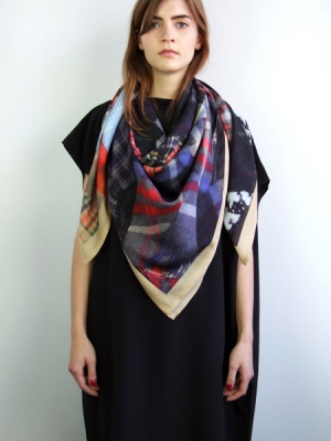 Rags to Riches Scarf - Check Print