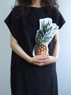 Cut Out Clutch Bag - Pineapple