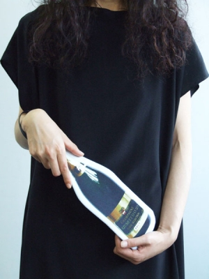 Cut Out Clutch Bag - Champagne Bottle