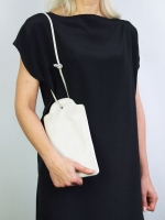 Price tag clutch - Alabaster