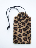 Price tag clutch - Leopard print calf hide - Other Image