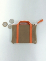 Handle Purse (mushroom & orange)