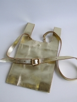 Supermarket Carrier Bag, small (gold)