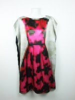 Pixel little black dress - pink/black