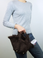 Hat Bag Tote (sheepskin) - Other Image