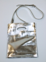 Bookshop Bag with Shoulder Strap, Small (Silver)