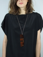 Messy Hair Comb Necklace (Tortoise) - Other Image