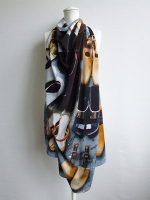 'Personal Treasures' Shoes Scarf (square)