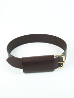 Luxury Covered Buckle Belt, brown/brown (wide)