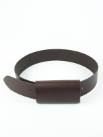 Luxury Covered Buckle Belt, brown/brown (wide) - Other Image