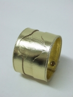 Leather Watch Cuff Gold - Other Image