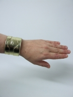 Leather Watch Cuff Gold