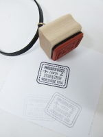 Worldwide Visa Stamp Necklace - Other Image