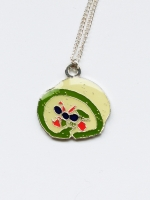 Lanka Green Tea Roll Cake Pendant
