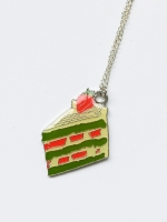 Lanka Green Tea Strawberry Cake Pendant