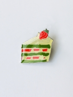 Lanka Green Tea Strawberry Cake Brooch