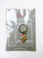 Lanka Green Tea Strawberry Cake Keyring - Other Image