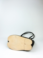 Ballet flat heel tote bag - black - Other Image