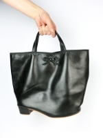 Ballet heel tote bag - black
