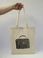 Bag Print Cotton Shopping Bag