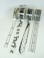Garment Tape - Ribbon print (50mm wide)