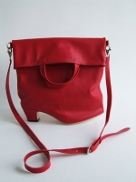 Heel Fold Top Handle Shoulder Bag