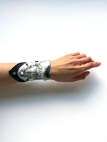 Mini Scarf Bracelet - Black & White