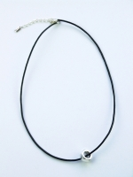 Nut Cord Necklace - Silver - Other Image