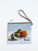 Still Life Clutch Bag - Apples and Orange