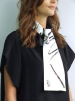 Colouring Scarf - Black & White