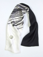 Colouring Scarf - Black & White - Other Image