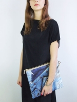Rags to Riches Clutch - Denim
