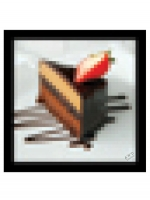 Pixel Pocket Square - Chocolate Cake - Other Image