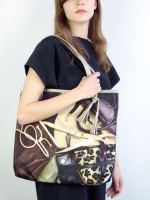 Rags to Riches Shopper - Brown