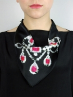 Pixel Necklace Scarf - Pink Diamond