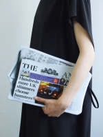 Cut Out Clutch Bag - Newspaper