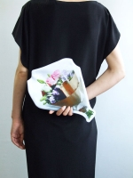 Cut Out Clutch Bag - Bouquet