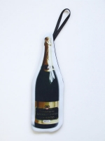 Cut Out Clutch Bag - Champagne Bottle - Other Image